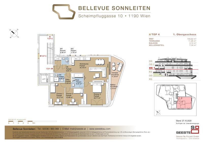 BELLEVUE SONNLEITEN  4 Zimmer Wohnung mit Südterrasse /  / 1190Wien / Bild 5