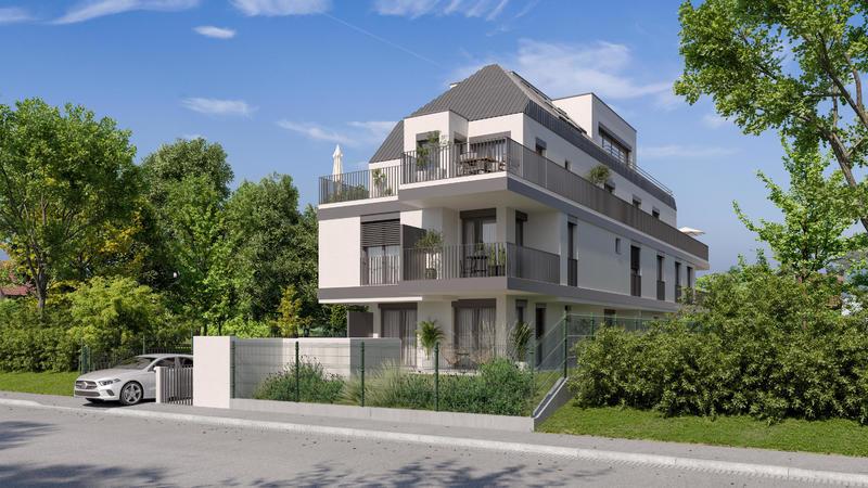 ! NEUBAU ! ruhige Gartenwohnung + Nebengebäude - 3 Zimmer - Baustart August 2021 /  / 1130Wien / Bild 0