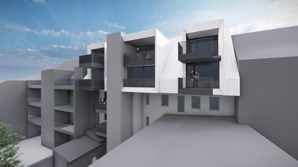 AUSSENANSICHTEN - Visualisierung Gebäude Rückseite