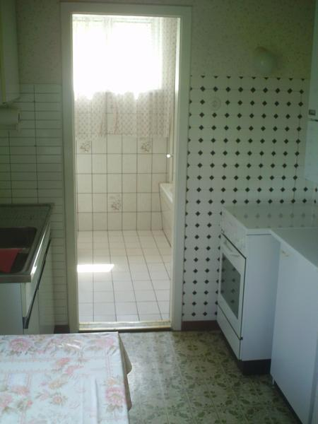 INNENANSICHTEN - Küche mit Blick ins Bad