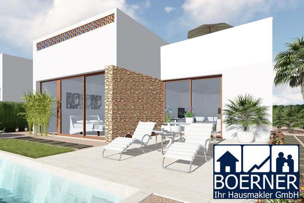 Moderne eingeschossige Villen mit 3 Schlafzimmern, optionalem Privatpool und ...