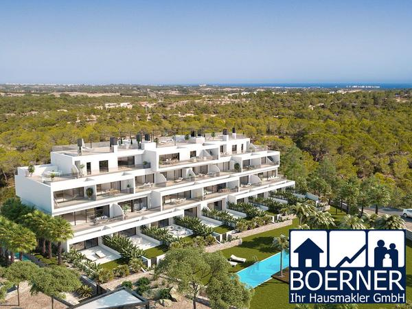 3-Zimmer-Luxus-Penthouse-Wohnungen mit Meerblick in exklusivem Golf Resort