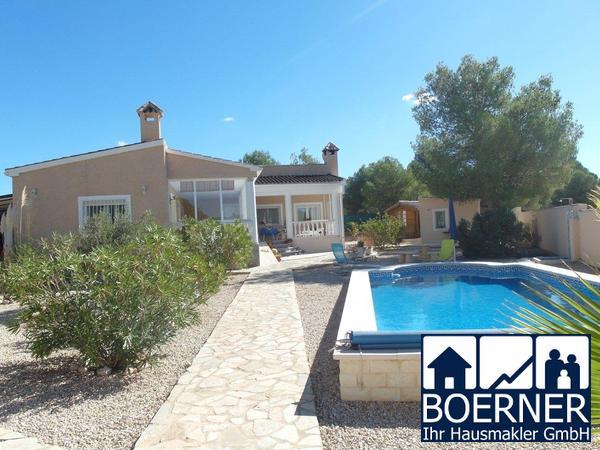 Bei Alicante, Landvilla in Tibi mit Gästeapartment, Pool und sehr schönem Pan...