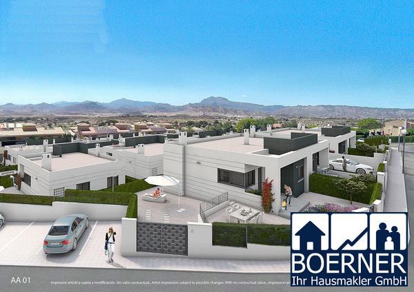 Moderne 3-Zimmer-Doppelhaushälften mit Gemeinschaftspool in wunderschöner Umg...