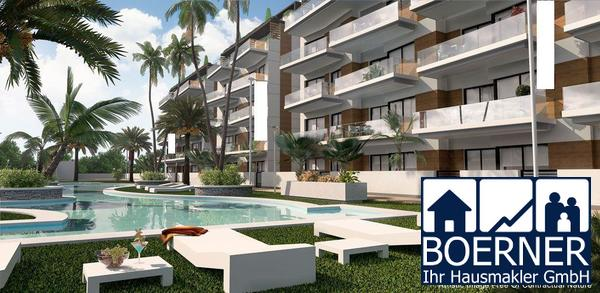 Komfortable 4-Zimmer-Penthouse-Wohnungen nur 300 m vom wunderschönen Sandstrand