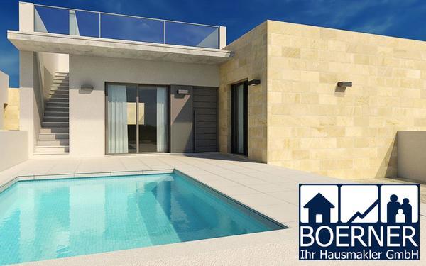 Wunderschöne 3-Zimmer-Doppelhaushälften in modernem Design mit Privatpool