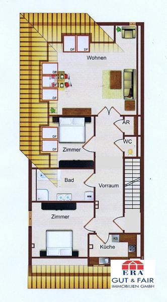 INNENANSICHTEN - Grundriss Dachgeschoss ca. 85m²