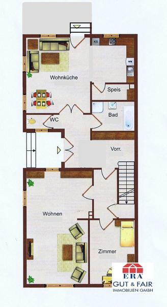 INNENANSICHTEN - Grundriss Erdgeschoss ca. 100m²
